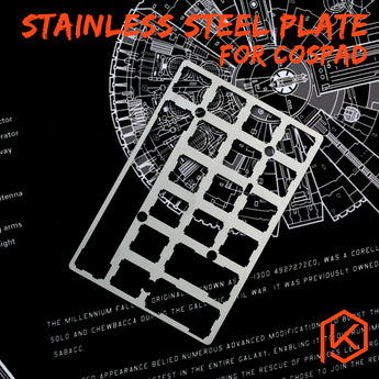 20% cospad XD24 Stainless steel Plate Mechanical Keyboard Plate support PAD GHPAD Numpad - KPrepublic