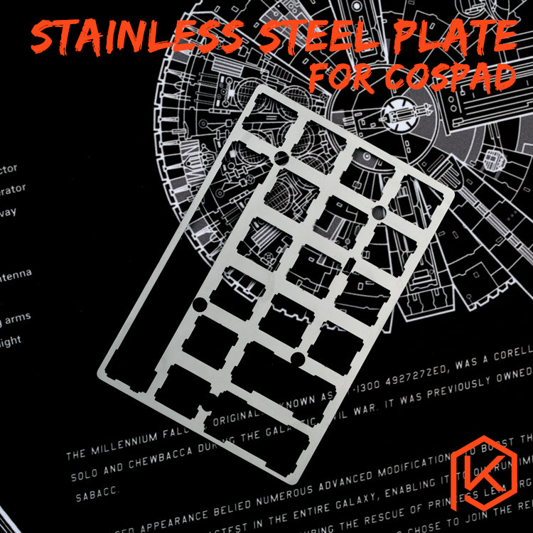 20 cospad xd24 stainless steel plate mechanical keyboard plate