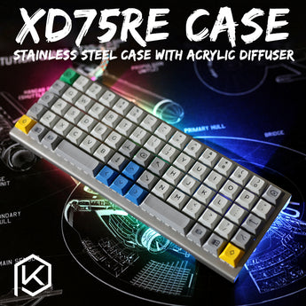 stainless steel bent case for xd75re 60% custom keyboard acrylic panels acrylic diffuser