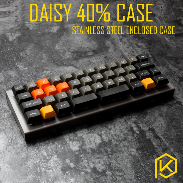 stainless steel bent case for daisy 40% custom keyboard enclosed case upper and lower case mechanical keyboard case