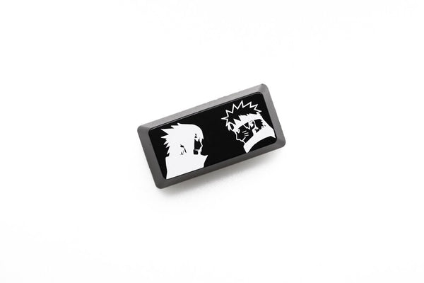 Novelty Shine Through Keycap ABS Etched NARUTO inspired black red enter backspace