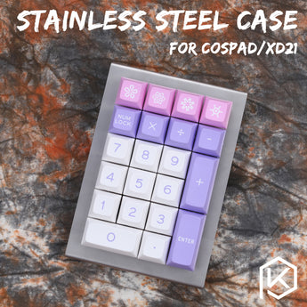 stainless steel bent case for cospad xd24 20% mechanical keyboard custom keyboard acrylic diffuser - KPrepublic