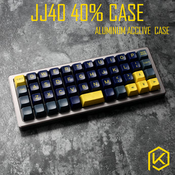 Anodized Aluminium case forjj40 40% custom keyboard acrylic panels acrylic diffuser can support jj40 acclive case support planck