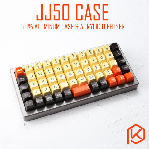 Anodized Aluminium Case For JJ50 50% Custom Keyboard the tempered glass Diffuser Rotary Brace Similar With Preonic