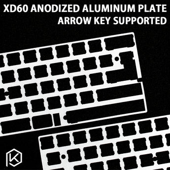 60% Aluminum Mechanical Keyboard Plate support xd60 xd64 gh60 silver color - KPrepublic