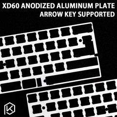 60% Aluminum Mechanical Keyboard Plate support xd60 xd64 gh60 silver color