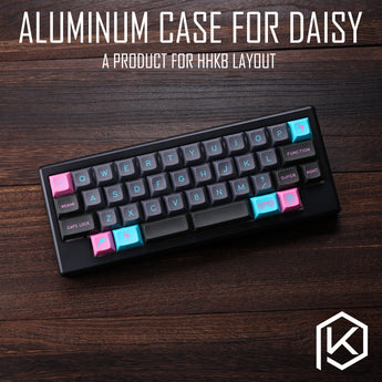 Anodized Aluminium case for daisy 40% hhkb layout custom keyboard acrylic diffuser can support daisy