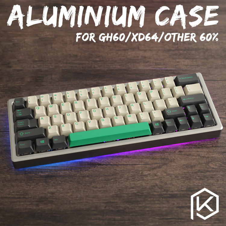 XD60 XD64 xiudi 60% Aluminum Case with Acrylic / tempered glass diffuser