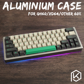 XD60 XD64 xiudi 60% Aluminum Case with tempered glass diffuser