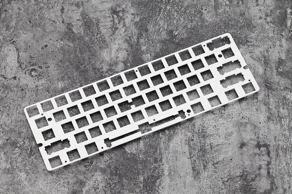 Aluminum Mechanical Keyboard Plate support gk61 white color only plate mount stabilizer