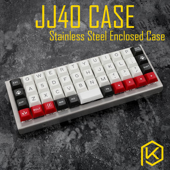 stainless steel bent case for jj40 40% JJ40 custom keyboard enclosed case upper and lower case also can support planck