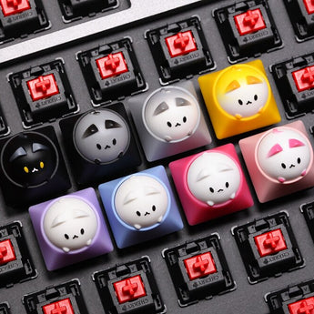 HAMMER BUBBLE CAT ARTISAN KEYCAP for Cherry MX Topre HHKB switches and clones