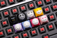 Hammer Bubble Cat Artisan Keycap For Cherry Mx Topre Hhkb Switches