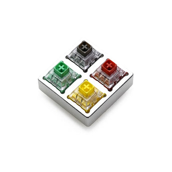 aluminum/Acrylic Switch Tester 2X2 kailh box switches Chinese Style red green grey yellow RGB SMD