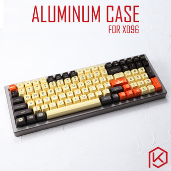 Anodized Aluminium Case For XD96 Xiudi Custom Keyboard Acrylic / tempered glass Diffuser Rotary Brace