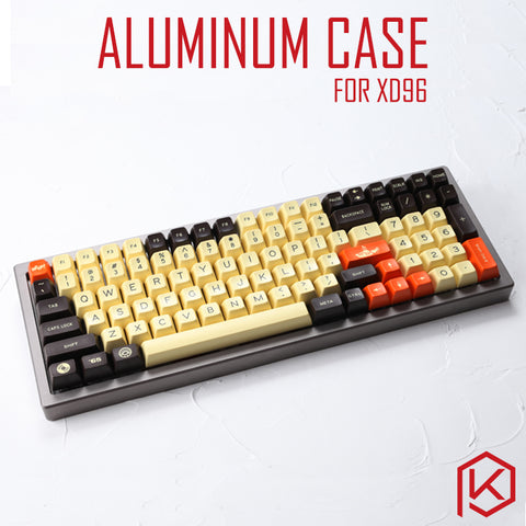 Anodized Aluminium Case For XD96 Xiudi Custom Keyboard Acrylic / tempered glass Diffuser Rotary Brace - KPrepublic