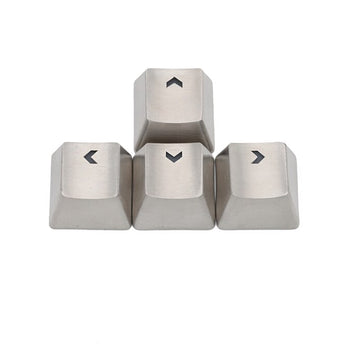 teamwolf stainless steel MX back-lit metal gaming Keycap for arrow keys silver color