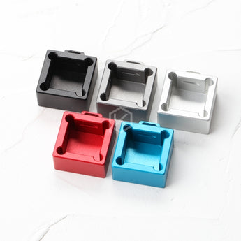 cube sugar aluminum Switch Tester base housing 1X1 silver red blue grey