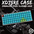 Stainless Steel Bent Plate Case For XD75Re 60% Custom Keyboard Enclosed Case