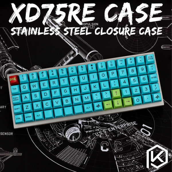 Stainless Steel Enclosed Case Case For XD75Re 60% Custom Keyboard