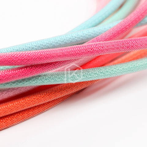 Colored sleeved Nylon USB Cable mini USB port Gold-plated connectors 1.2m length 6 colors blue pink purple orange beige cyan - KPrepublic