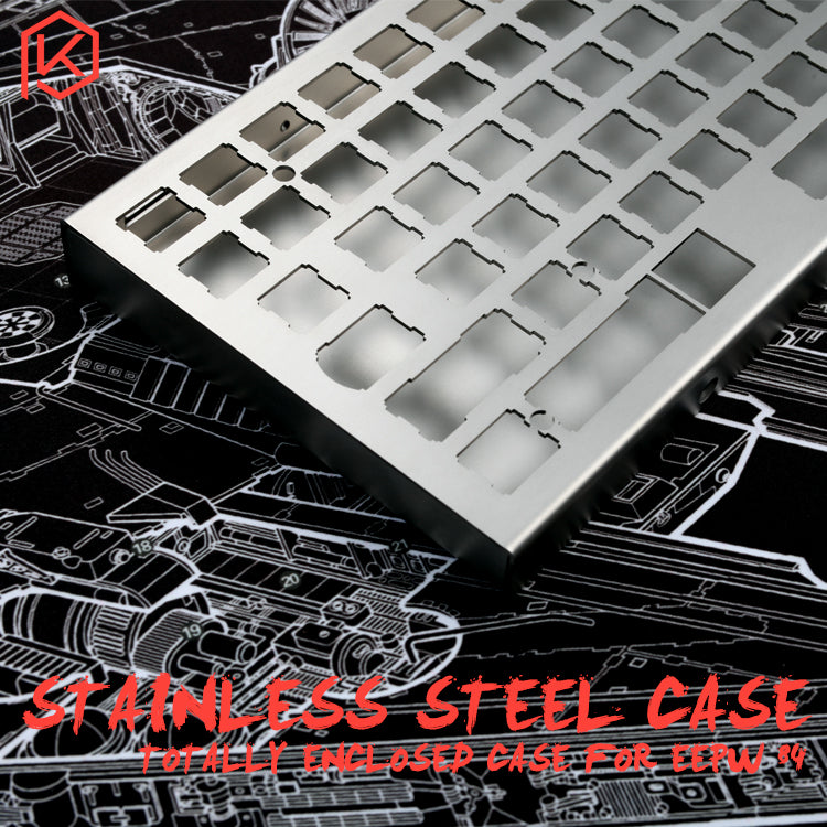 stainless steel bent case for xd84 eepw84 75% custom keyboard enclosed case  upper and lower case
