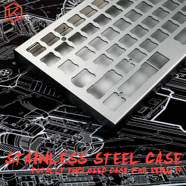 stainless steel enclosed case for xd84 eepw84 75% mechanical keyboard - KPrepublic