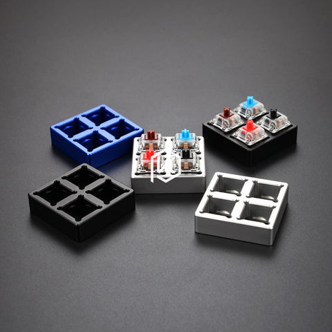 aluminum Switch Tester base 2X2 silver black red purple