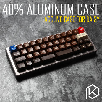 Anodized Aluminium case for daisy 40% custom keyboard acrylic diffuser can support daisy acclive case