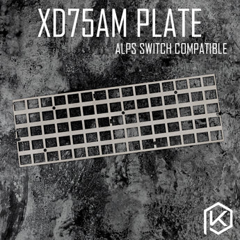 alps stainless steel plate for xd75am xd75 60% custom keyboard Mechanical Keyboard Plate support xd75am alps matias switch stem