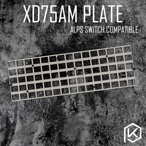 alps stainless steel plate for xd75am xd75 60% custom keyboard Mechanical Keyboard Plate support xd75am alps matias switch stem - KPrepublic