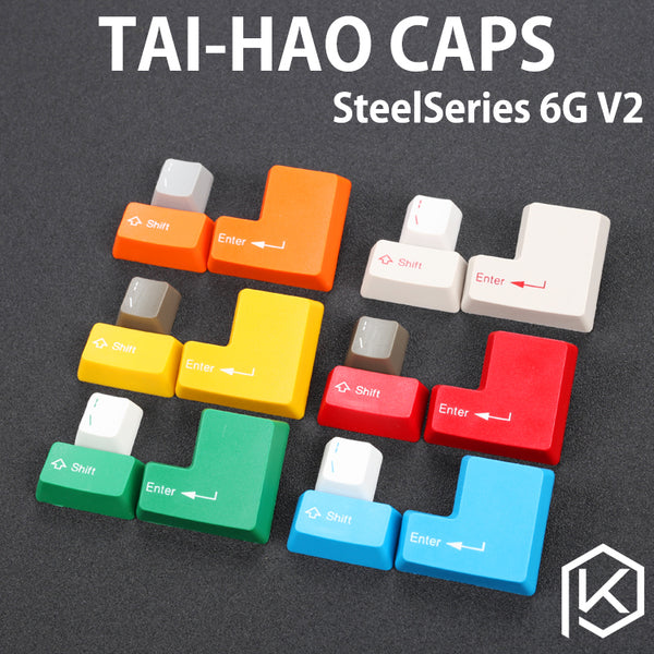 taihao abs double shot keycaps modifier for mechanical keyboard steelseries 6g v2 white grey red green blue yellow big ass enter