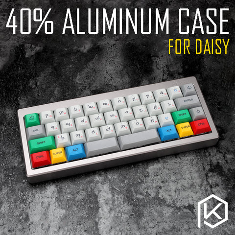 Anodized Aluminium case for daisy 40% custom keyboard acrylic diffuser can support daisy Rotary brace supporter - KPrepublic
