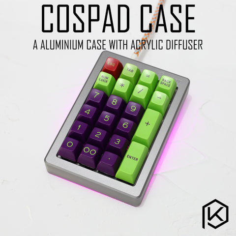 Anodized Aluminium Case For Cospad XD24 Custom Keyboard With Acrylic / tempered glass Diffuser Rotary Brace Supporter
