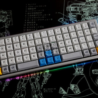 Anodized Aluminium Case For XD75Re XD75 60% Custom Keyboard Acrylic / tempered glass Diffuser Rotary Brace