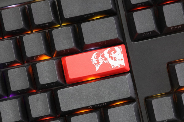 Novelty Shine Through Keycaps ABS  Etched black red enter God Of War Kratos oem profile