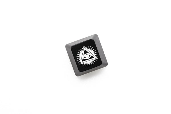 Novelty Shine Through Keycaps ABS Etched black red esc Eye of Providence