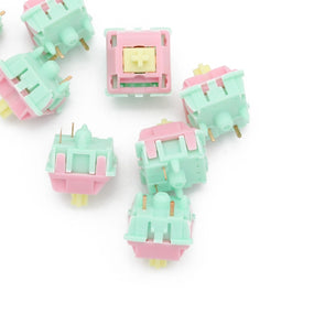 Keyfirst Gateron Cream Switch 5pin RGB linear 62g mx clone switch 50m pink green