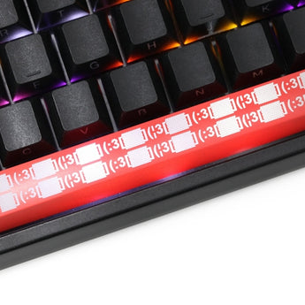 Novelty Shine Through spacebar Keycaps ABS Etched black redlight dormitory sound asleep icon