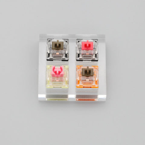 Acrylic Switch Tester 2X2 TTC gold pink gold brown silent red silent brown SMD RGB
