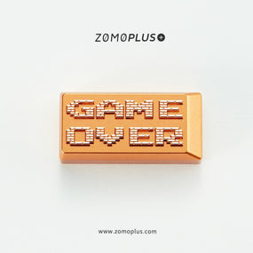 zomo game over Artisan Keycap CNC anodized aluminum backspace gold colorway