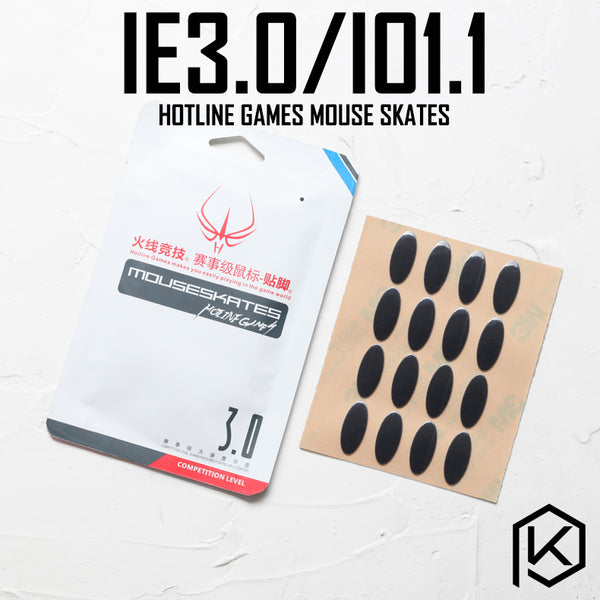 Hotline games 2 sets/pack competition level mouse feet skates gildes for ie 3.0 io 1.1 ie3.0 io1.1 0.6mm thickness Teflon
