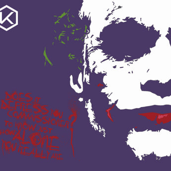 [CLOSED]【GB】Mechanical keyboard Mousepad Batman joker Heath Ledger 900 400 4 mm 450 400 4 mm non-Stitched Edges Soft/Rubber Highquality