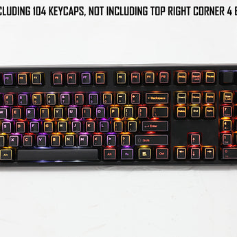 Outlined ABS Backlit 104-Keycap Set ABS Keycap Set 108 87 For MX Switches Free shipping ABS cherry profile 104 keys