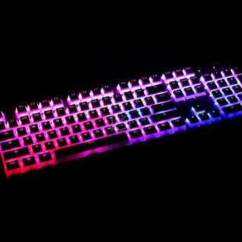 pudding pbt doubleshot keycap oem back light mechanical keyboards milk white pink black gh60 poker 87 tkl 104 108 ansi iso