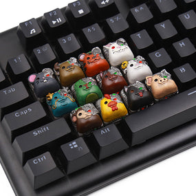 [Pre-Order] Lil-Moemon 12 Shengxiao terminator Novelty resin hand-painted keycaps