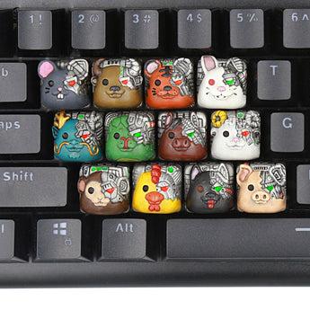 [CLOSED][GB] Lil-Moemon 12 Shengxiao terminator Novelty resin hand-painted keycaps Chinese zodiac animals