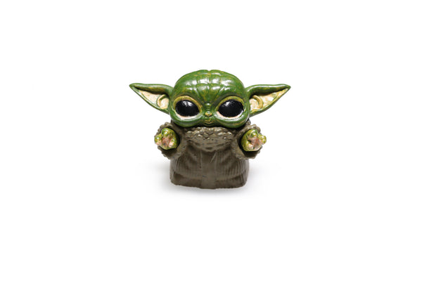 [CLOSED][GB] ELF Novelty Baby Yoda resin keycap compatible with mx stem hand painted