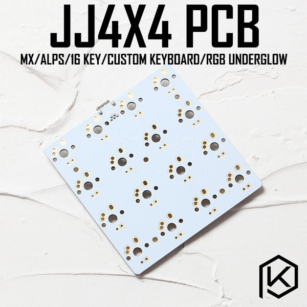 jj4x4 jj4X4 16 keys Custom Mechanical Keyboard PCB programmed numpad layouts bface firmware with rgb bottom underglow alps mx