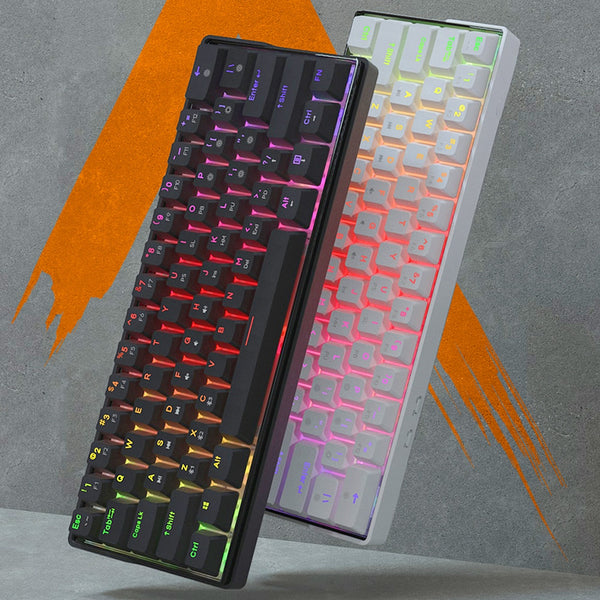KEMOVE 61 Key Mechanical Keyboard Switch 60% NKRO Bluetooth Dual Mode PBT Keycaps Wireless Wired Gaming Keyboard PC TABLET DK61